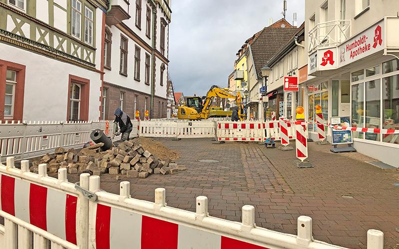Blomberger Marktplatz-Umbau gestartet