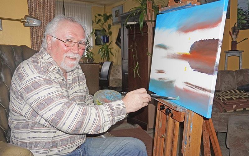 Künstler dokumentiert sein Schaffen